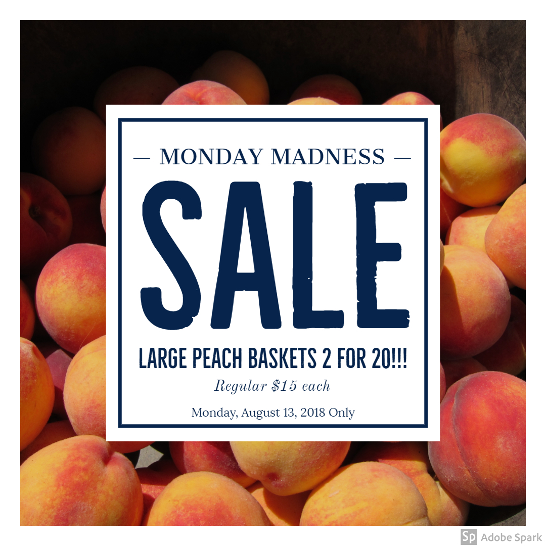 Monday Madness Peach Sale