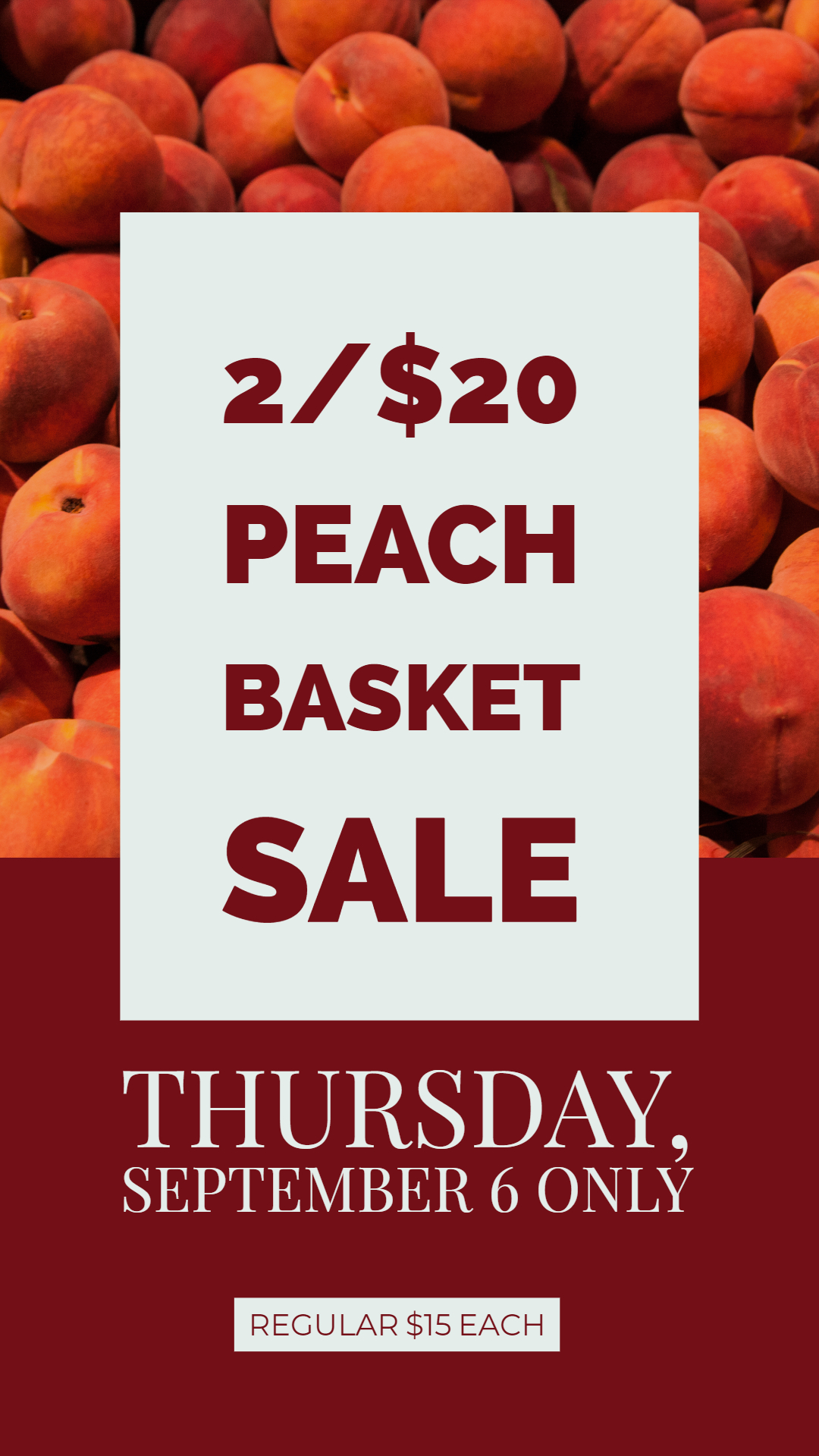 peach basket sale